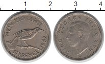 Изображение Монеты Новая Зеландия 6 пенсов 1952 Медно-никель VF