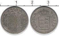 Изображение Монеты Вюртемберг 3 крейцера 1851 Серебро VF