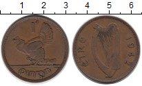 Изображение Монеты Ирландия 1 пенни 1942 Медь VF Глухарь