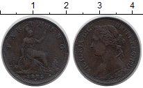 Изображение Монеты Великобритания 1 фартинг 1875 Медь VF