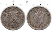 Изображение Монеты Малайя 10 центов 1939 Серебро XF Георг VI.
