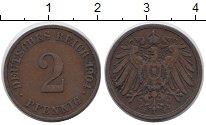 Изображение Монеты Германия 2 пфеннига 1904 Медь XF