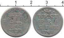 Изображение Монеты Нидерланды Западная Фризия 2 стивера 1748 Серебро VF