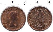 Изображение Монеты ЮАР 1/4 пенни 1953 Медь VF