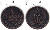 Изображение Монеты Ганновер 1 пфенниг 1858 Медь XF