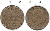 Изображение Монеты Монако 20 франков 1951 Латунь VF