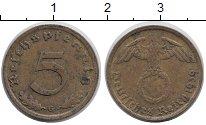Изображение Монеты Третий Рейх 5 пфеннигов 1939 Медь XF