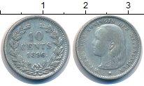 Изображение Монеты Нидерланды 10 центов 1896 Серебро XF