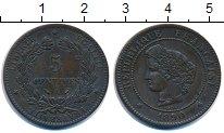 Изображение Монеты Франция 5 сентим 1890 Бронза XF