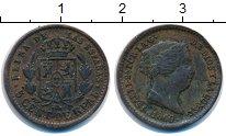 Изображение Монеты Испания 5 сентим 1860 Медь XF