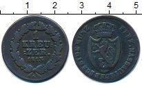 Изображение Монеты Нассау 1 крейцер 1813 Медь VF