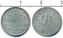 Изображение Монеты Франкфурт 1 крейцер 1861 Серебро UNC-