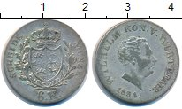 Изображение Монеты Германия Вюртемберг 6 крейцеров 1834 Серебро VF