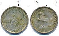 Изображение Монеты Ганновер 1/2 гроша 1863 Серебро XF+