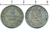 Изображение Монеты Германия Нассау 6 крейцеров 1834 Серебро XF+