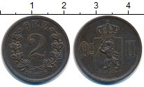 Изображение Монеты Норвегия 2 эре 1889 Медь VF Оскар II