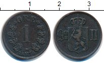 Изображение Монеты Норвегия 1 эре 1878 Медь XF Оскар II