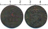 Изображение Монеты Пруссия 3 пфеннига 1839 Медь XF-