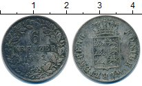 Изображение Монеты Вюртемберг 6 крейцеров 1842 Серебро VF