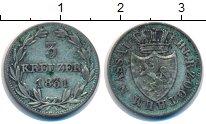 Изображение Монеты Нассау 3 крейцера 1831 Серебро XF-