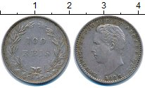 Изображение Монеты Португалия 100 рейс 1888 Серебро XF Людовик I.