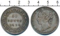 Изображение Монеты Ньюфаундленд 50 центов 1894 Серебро XF-
