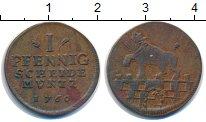Изображение Монеты Германия Анхальт-Бернбург 1 пфенниг 1760 Медь XF-