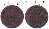 Изображение Монеты Германия Пруссия 4 пфеннига 1836 Медь VF