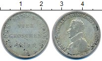 Изображение Монеты Пруссия 1/6 талера 1817 Серебро VF