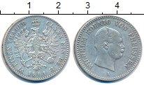 Изображение Монеты Пруссия 1/6 талера 1861 Серебро XF-