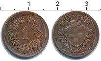 Изображение Монеты Швейцария 1 рапп 1900 Бронза XF В