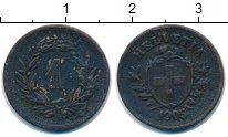 Изображение Монеты Швейцария 1 рапп 1905 Бронза XF-