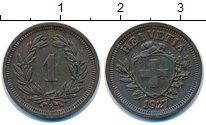 Изображение Монеты Швейцария 1 рапп 1927 Бронза XF В