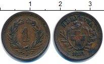 Изображение Монеты Швейцария 1 рапп 1883 Бронза XF В