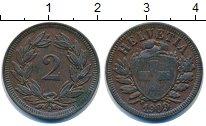 Изображение Монеты Швейцария 2 раппа 1909 Бронза XF