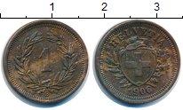 Изображение Монеты Швейцария 1 рапп 1906 Бронза XF