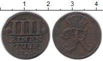Изображение Монеты Германия Восточная Фризия 1/4 штюбера 1754 Медь VF