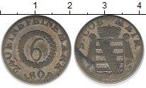 Изображение Монеты Саксен-Майнинген 6 крейцеров 1808 Серебро VF