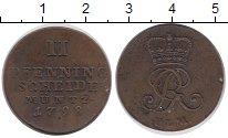 Изображение Монеты Германия Ганновер 2 пфеннига 1798 Медь VF