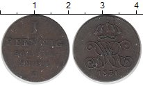 Изображение Монеты Ганновер 1 пфенниг 1831 Медь VF Перерезана. Редкая