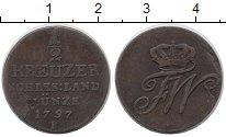 Изображение Монеты Германия Силезия 1/2 крейцера 1797 Медь VF