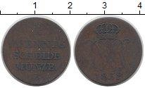 Изображение Монеты Ганновер 1 пфенниг 1832 Медь VF B. Редкая