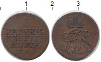Изображение Монеты Германия Саксен-Кобург-Саалфелд 1 пфенниг 1761 Медь VF
