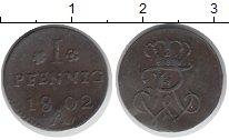 Изображение Монеты Пруссия 1 пфенниг 1802 Медь VF