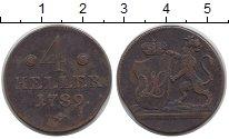 Изображение Монеты Гессен-Кассель 4 геллера 1789 Медь VF