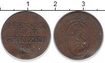 Изображение Монеты Рейсс 1 пфенниг 1813 Медь VF Старшая линия