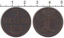 Изображение Монеты Гессен-Кассель 3 хеллера 1774 Медь