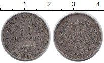 Изображение Монеты Германия 50 пфеннигов 1898 Серебро XF