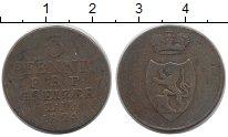Изображение Монеты Германия Рейсс 3 пфеннига 1824 Медь VF