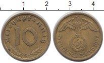Изображение Монеты Третий Рейх 10 пфеннигов 1938 Латунь VF